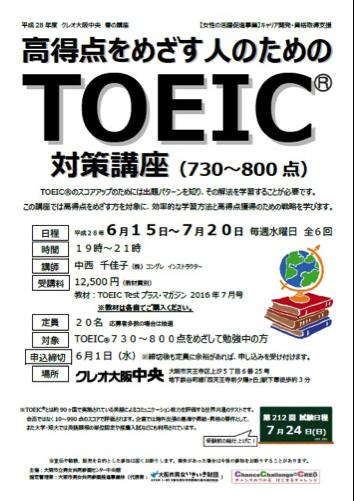 高得点をめざす人のためのTOEIC対策講座