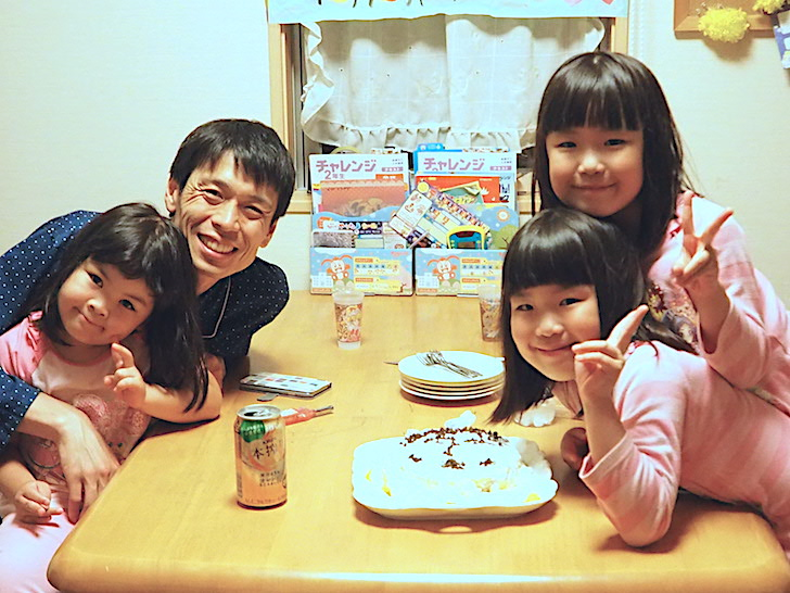 宮本さんと娘3人