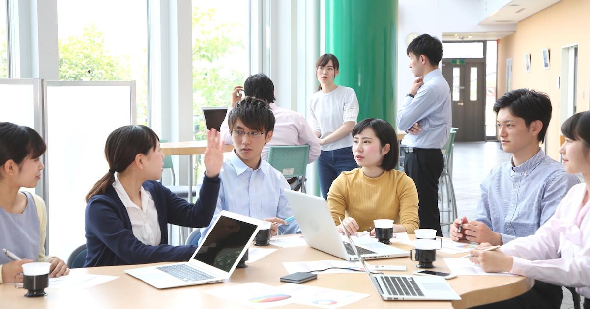 学生のミーティング