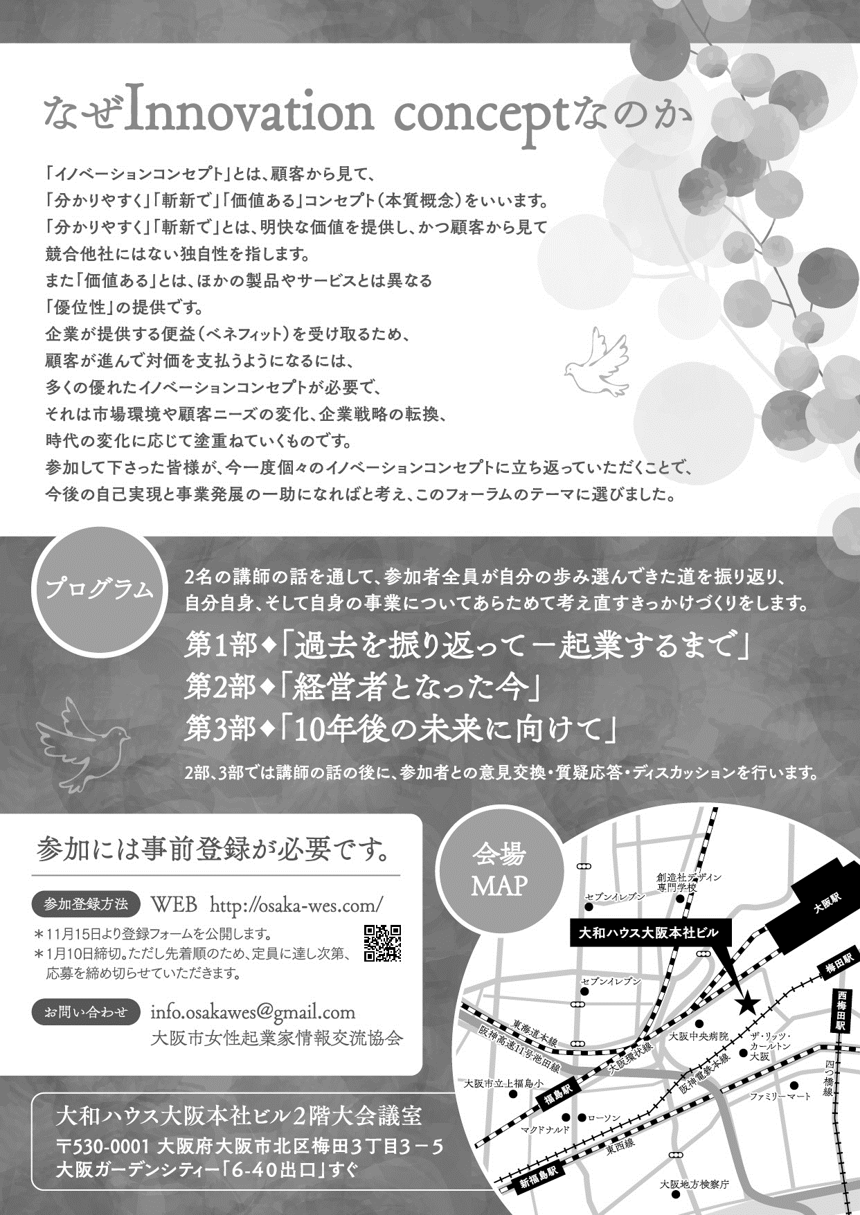 We's FORUM 2019 Innovation concept裏